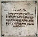 Oberzell. Saint Georg. Placa